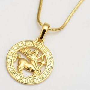 "Jewelry - Gold Filled Horoscope Sagittarius Necklace  18"""